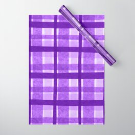 Tissue Paper Plaid - Purple Wrapping Paper