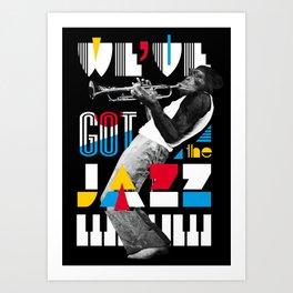Jazz Monkey Art Print