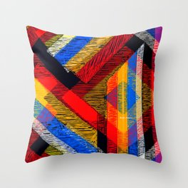 Tangled Maze Throw Pillow