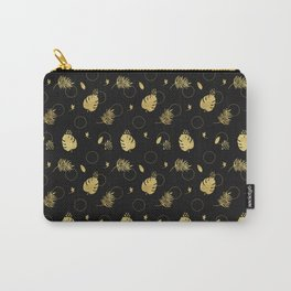 Gold Summer NEVER LOOK BACK typography Carry-All Pouch