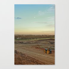 Dirt Moon Sunset Canvas Print