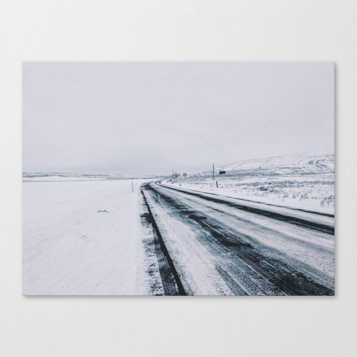 Icy Road Canvas Print