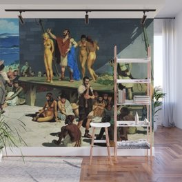 """Classical Masterpiece """"At the Roman Slave Market"""" by Herbert Herget Wall Mural"""