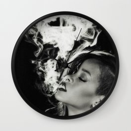 RIHANNA SMOKE Wall Clock