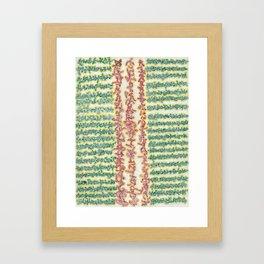 Soul Script Legs Framed Art Print