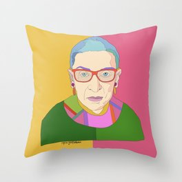 Ruth Bader Ginsburg Throw Pillow