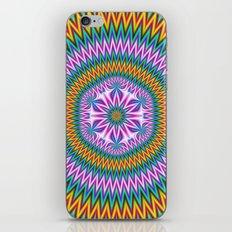 Floral Motif in Chevron Rings iPhone & iPod Skin