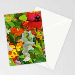 Colorful Flower Garden Stationery Cards