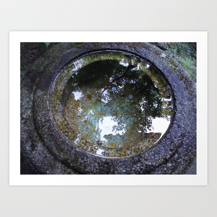The circle of stillness Art Print