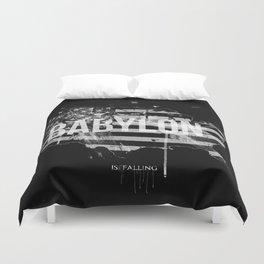 Babylon is falling Duvet Cover