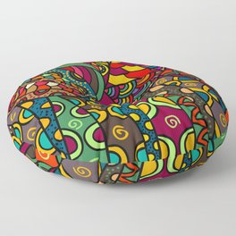 African Style No13, Tribal dance Floor Pillow