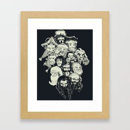 Manga Dwarves Framed Art Print
