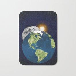 Earth Moon and Sun Bath Mat