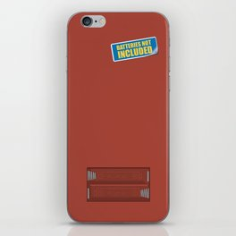 Batteries Not Included ~ Medium Carmine iPhone Skin