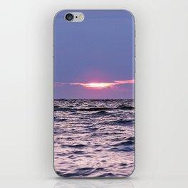 Water level Sunset iPhone Skin