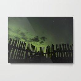 Aurora through the fence Metal Print