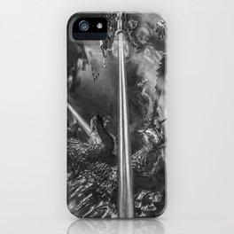 Godzilla versus Earth's Mightiest Heroes - - By Julio Lucas iPhone Case