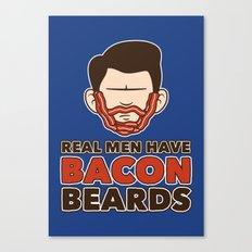 Bacon Beard (men's version) Canvas Print