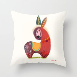 The Little Donkey without a Tail  Throw Pillow