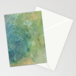 Pastel Abstract Watercolor Painting Stationery Cards