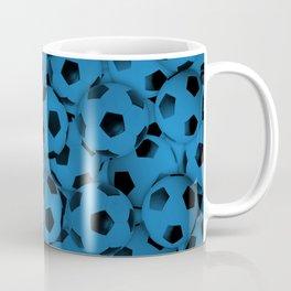 Blue Soccer Balls Everywhere Coffee Mug