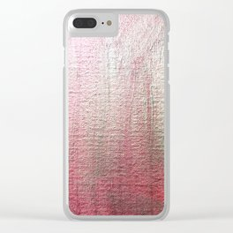 Metalic pink shimmer sheen background Clear iPhone Case