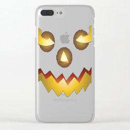 The Official Scary Face Halloween Costume Tee Shirt Clear iPhone Case