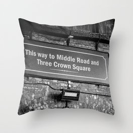 Old Borough Market Sign, London | Black & White | Street & Travel Photography | Fine Art Photo Print Throw Pillow