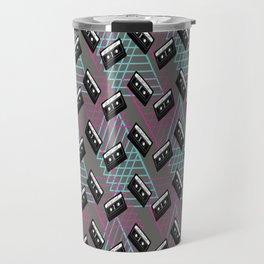Crunk Cassette Tape 80's Abstract Funk Design Travel Mug