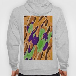 brown purple and green camouflage graffiti painting abstract background Hoody