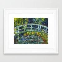 monet Framed Art Prints featuring Monet Interpretation by Britt Miller Art