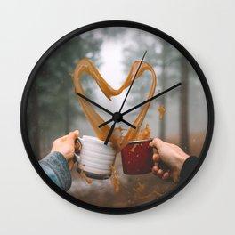 Love and Coffee Wall Clock
