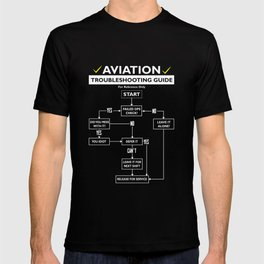 Pilot Aviation Guide Airman Flight Sky Funny T-shirt