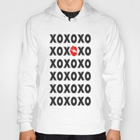 xoxo Hoodies featuring XOXO by DuniStudioDesign