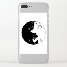 Yin and Yang Clear iPhone Case