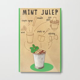 HOW TO: MINT JULEP Metal Print