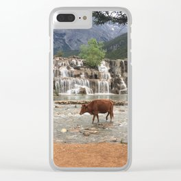 Cows in the River Clear iPhone Case