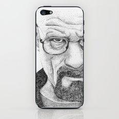 Heisenberg Pointillism/Stippling  Portrait iPhone & iPod Skin