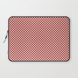 Aurora Red and White Polka Dots Laptop Sleeve