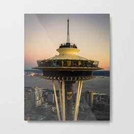 Space Needle (close-up) Metal Print