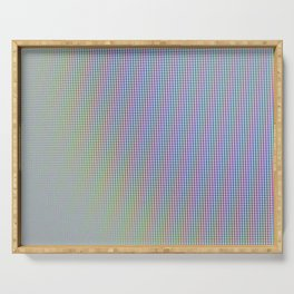 Extreme macro of colored pixels from screen Serving Tray