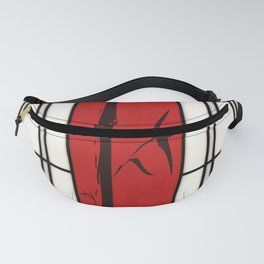 Shoji with bamboo ink painting Fanny Pack