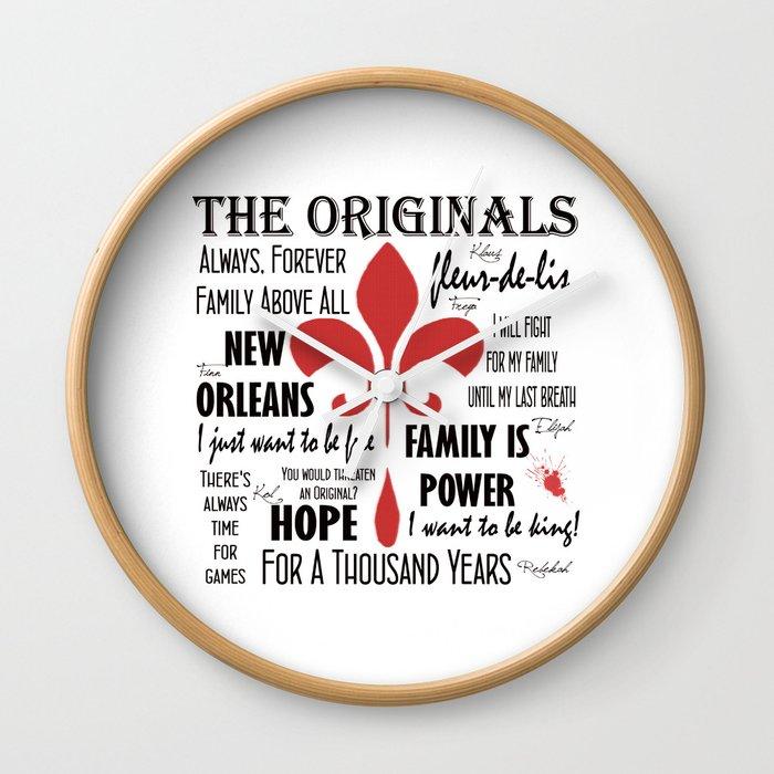 The Originals inspired art print (White) Wall Clock