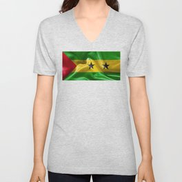 Sao Tome and Principe Flag Unisex V-Neck