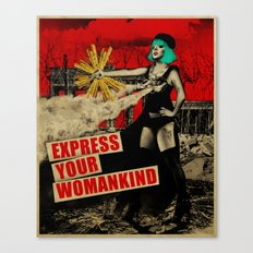 Express Your Womankind Canvas Print