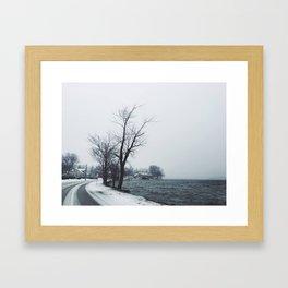 Lake in Winter Framed Art Print