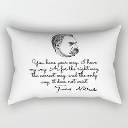 Friedrich Wilhelm Nietzsche Rectangular Pillow