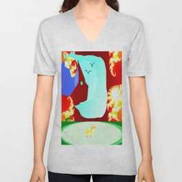 Somewhere Out There Unisex V-Neck