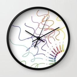 Drawing Markers Wall Clock