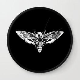 Deathheadsmoth nega Wall Clock